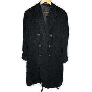 Ralph Lauren Black Wool & Cashmere Trench Coat